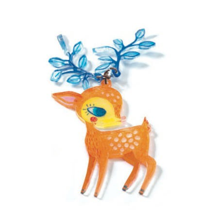 The Fawn And The Bird - Shrinkable Jewellery Set, detail of fawn