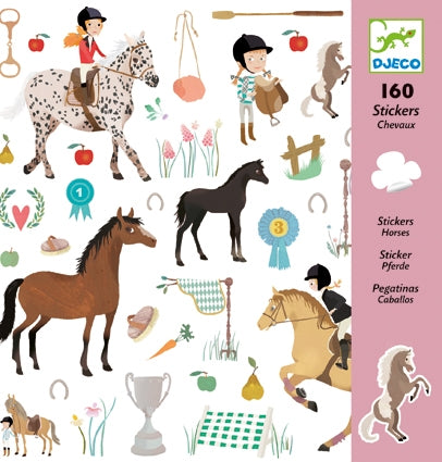 Horses Stickers by Djeco, front of pack