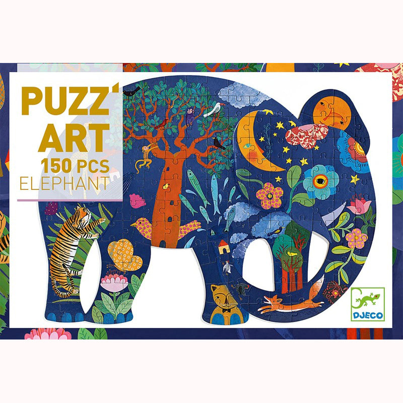 Elephant Puzzle by Djeco, boxed