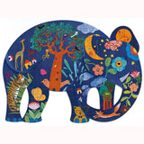 Elephant Puzzle by Djeco, completed design