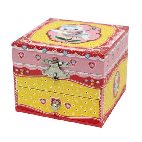 Cat's Song Musical Trinket Box, closed