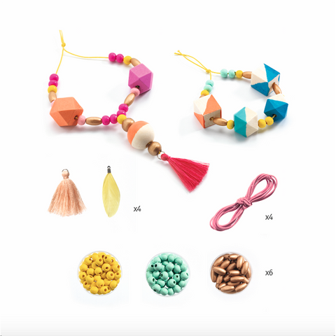 Beads and Cubes Jewellery Kit, contents