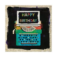 Typewriter Happy Birthday Greeting Card.
