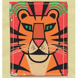 Tiger memory matching card - Paul Thurlby