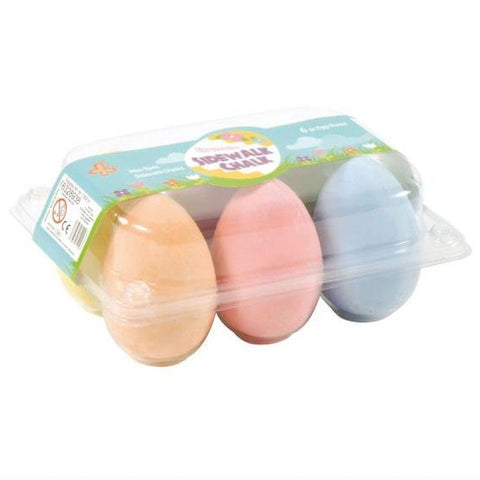 6 coloured egg chalks in plastic packaging
