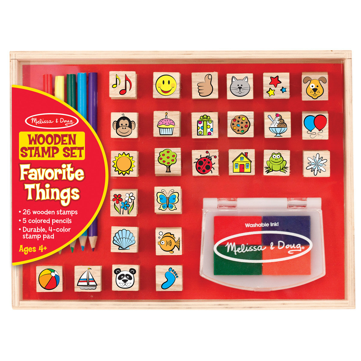 Favourite Things Wooden Stamp Set