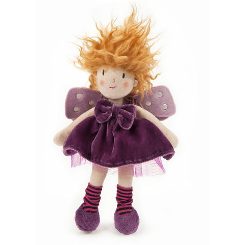 Ragtales Tooth Fairy doll purple, unboxed