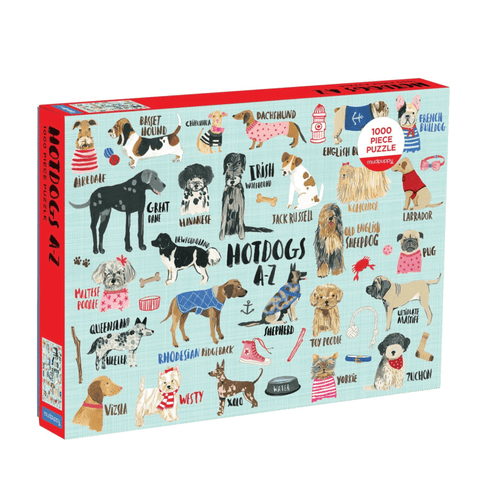 Hot Dogs A-Z Puzzle - 1000 pieces, front of box