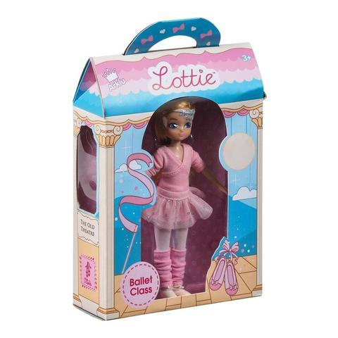 Ballet Class Lottie Doll, boxed from side angle