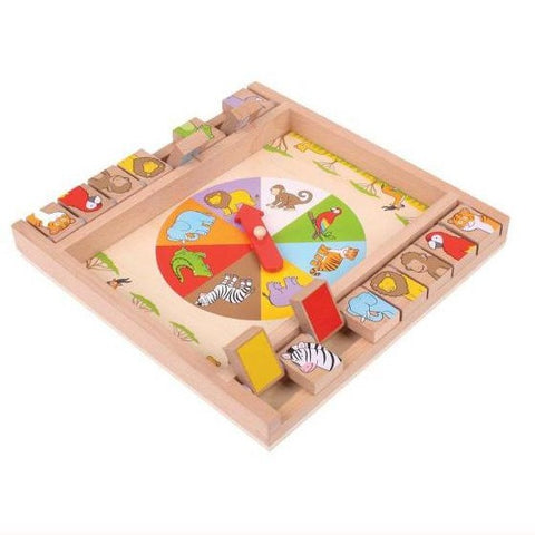 Animal Shut the box - during play, unboxed