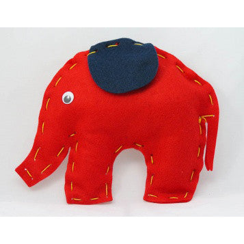 Elephant First Sewing Kit - Buttonbag, finished elephant