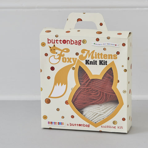 Foxy Mittens Knit Kit - Buttonbag, boxed
