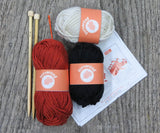 Foxy Mittens Knit Kit - Buttonbag, contents