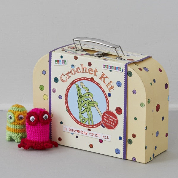 Learn How To Crochet Suitcase Kit - Buttonbag