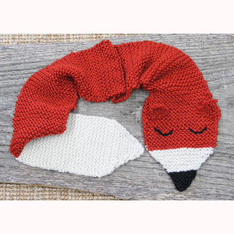 Foxy Scarf Knit Kit - Buttonbag, finished foxy scarf