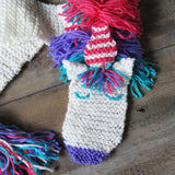 Unicorn Scarf Knit Kit - Buttonbag, close up of face