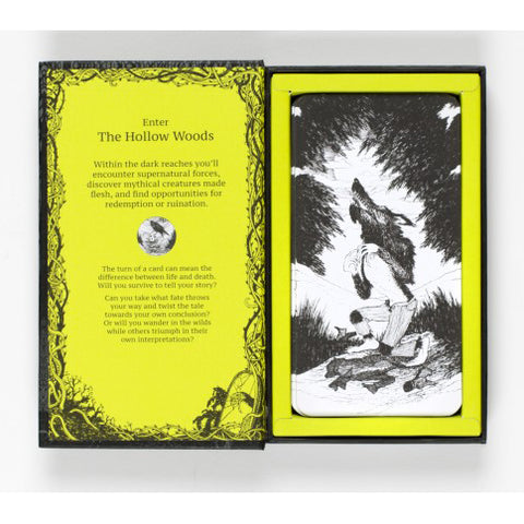 The Hollow woods, inside box text and werewolf illustration