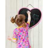 Heart Chalkboard, girl drawing