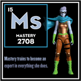 Mastery Action Figure - IAmElemental - Series II / Wisdom, character card
