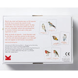 Match a pair of birds, back of box