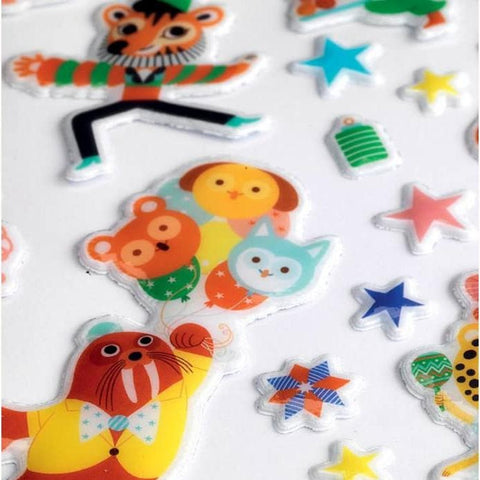 Party puffy stickers by Djeco, detail of sticker