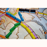 Ticket To Ride: Europe, detail of board and carriages