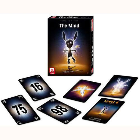 The Mind - A Card Game, box and sample cards