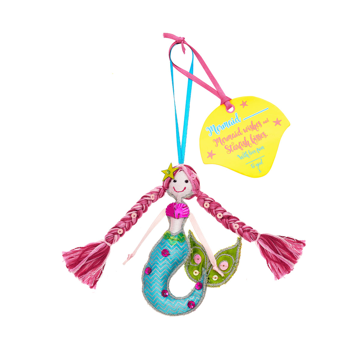 Fairtrade Mermaid with pink hair