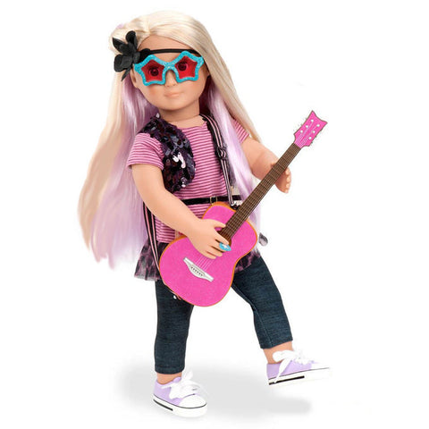 Layla with book - Our Generation Doll, posed and rocking out