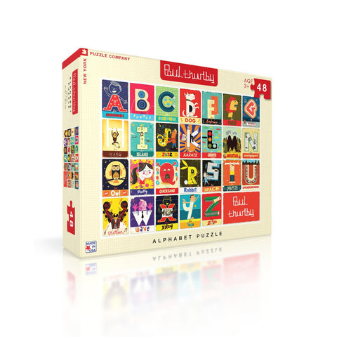 Alphabet Jigsaw Puzzle, Side view of box