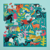 Rainforest Animals Puzzle, incomplete jigsaw image