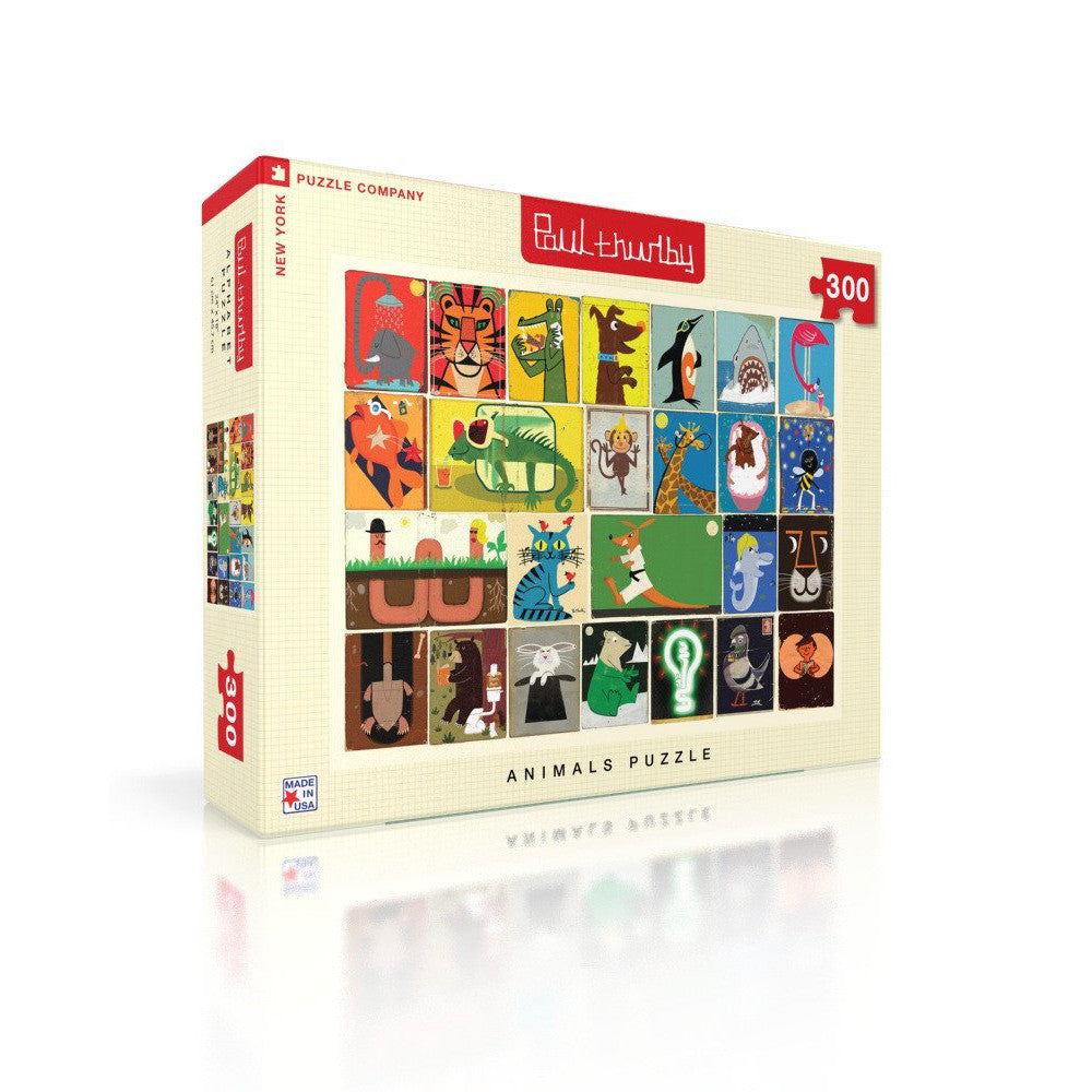 Animals Jigsaw Puzzle - Paul Thurlby, side on view of box