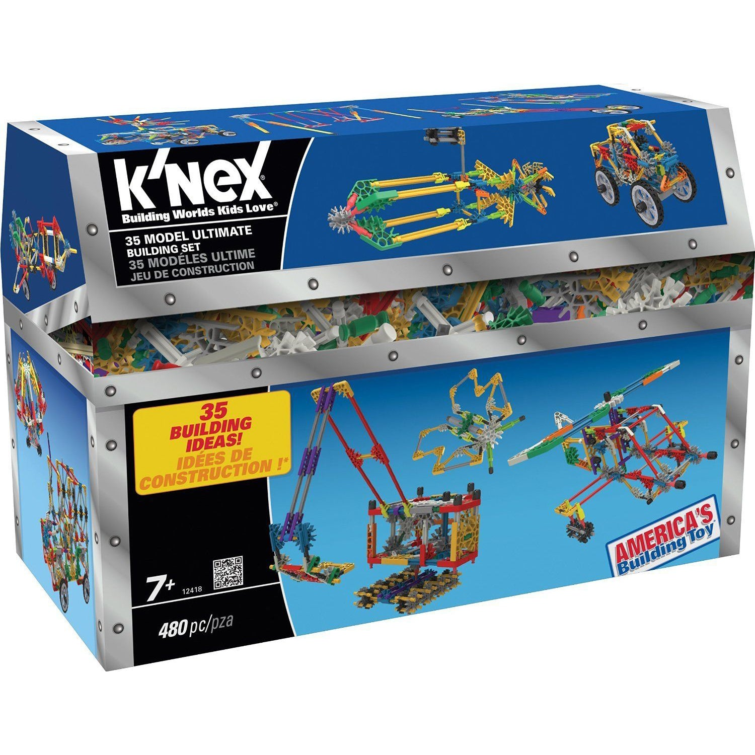 K'nex 35 Model Ultimate Building Set, boxed, slightly open