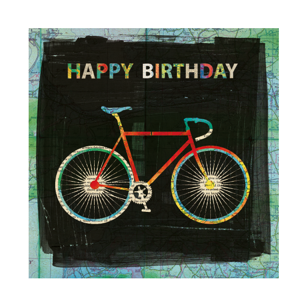 Bicycle Happy Birthday Card