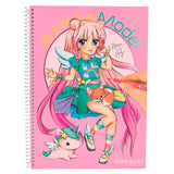 Manga Model Colouring Book (+ stickers)