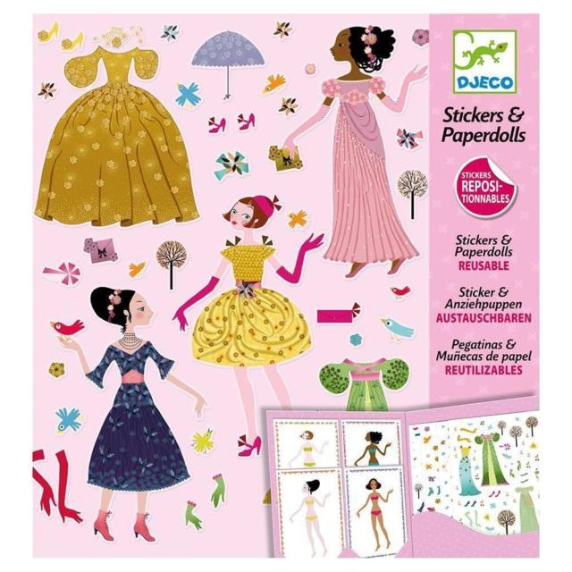 Stickers & Paperdolls by Djeco, front cover