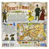 Ticket To Ride: Europe back of box