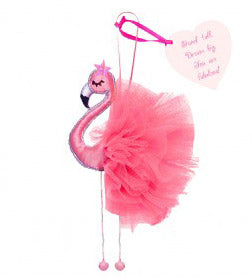 flamingo hanging charm bright pink