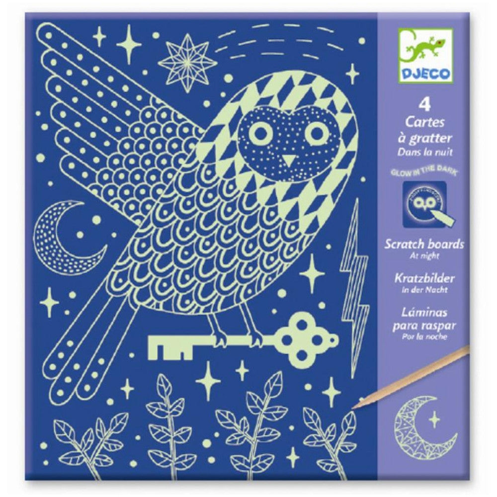 At Night - Glow in the Dark Scratch Card Art, front of packet