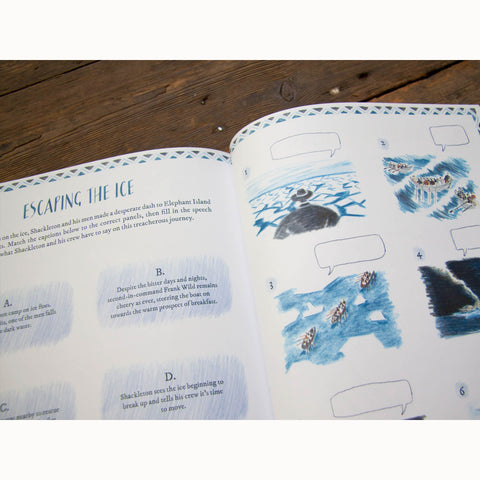 Shackleton's Journey Activity Book, escaping the ice page