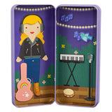 Music Maker - Magnetic Dress Up, open tin and alternate outfit