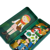 Nature Studies - Magnetic Dress Up, open tin with different outfit and animals displayed 2
