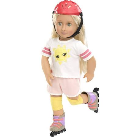 Roll With It (Rollerblading) - Our Generation Accessory, modelled on doll