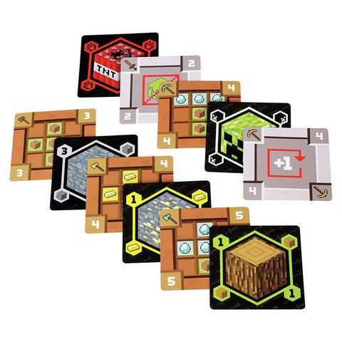 Minecraft Card Game, cards displayed