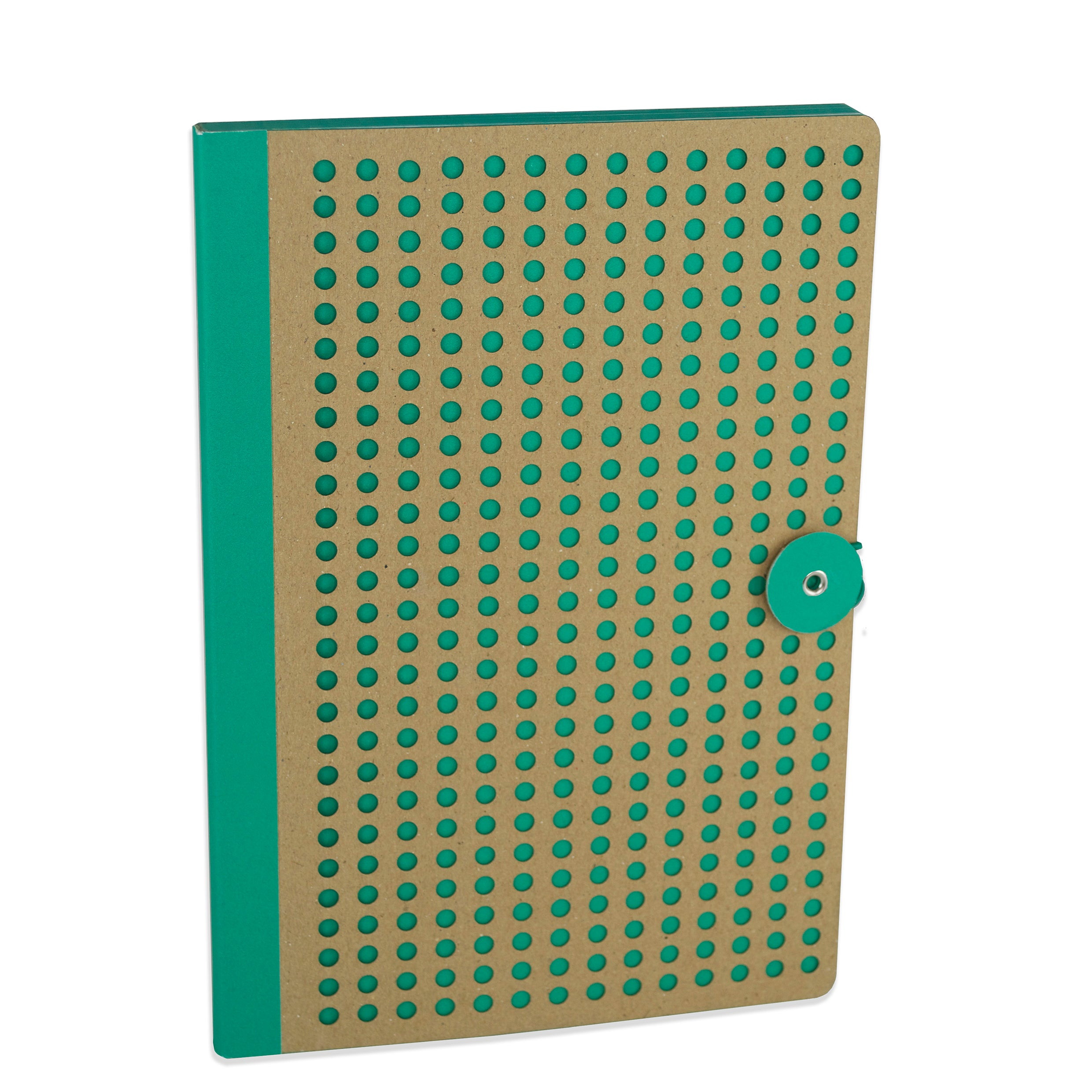 Green Neon Kraft Notebook, closed