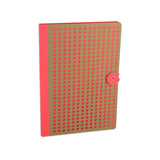 Orange Neon Kraft Notebook, closed
