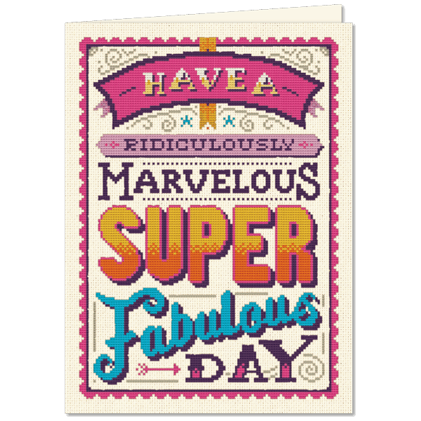 Marvelous Super Fab - Greeting Card