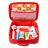 Doctor's Play Set, bag open showing contents