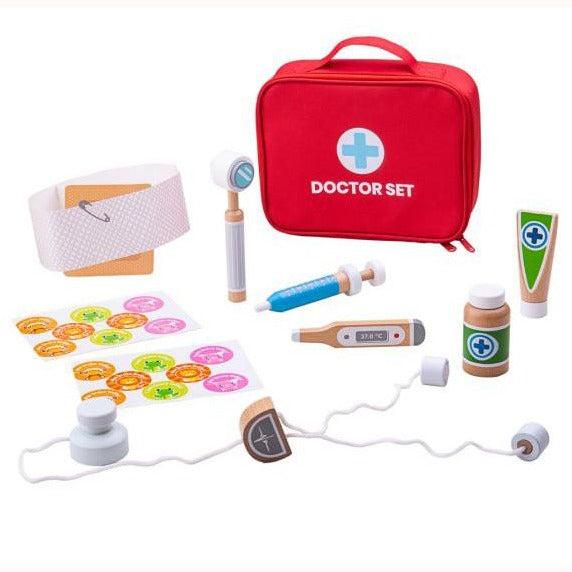 Doctor's Play Set, bag and contents