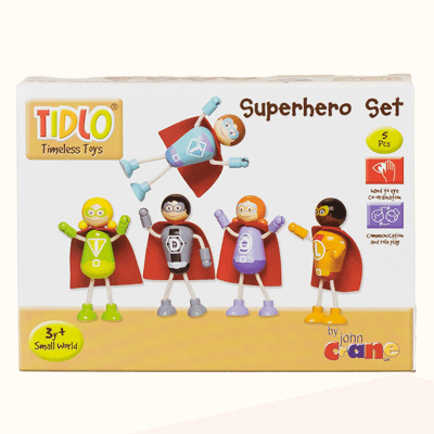 Superhero set packaged